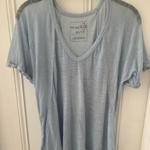 Free people we the free tee / t-shirt in sky blue